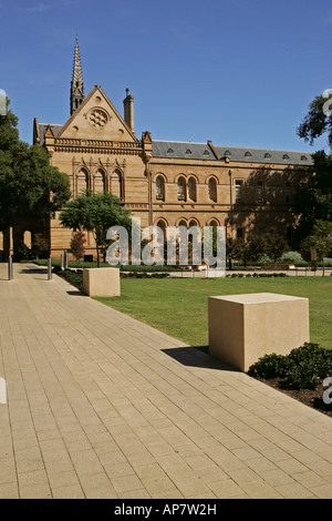 Eastern side of Mitchell Building, University of Adelaide, North Terrace Adelaide South Australia - Stock Photo