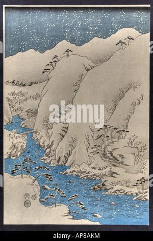 Kisoji no sansen, Japan ca. 1857 - Stock Photo