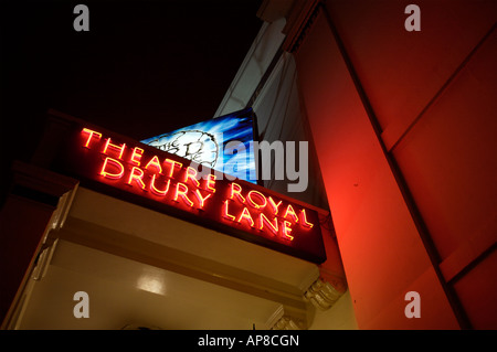 The Theatre Royal Sign in Drury Lane, London - Stock Photo