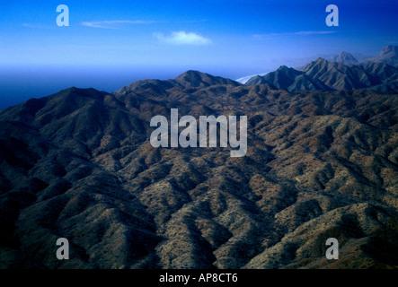 Mountain landscape, Magdalena Bay, Baja California Sur State, Mexico - Stock Photo