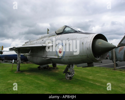 English Electric Lightning Interceptor fighter at Dumfries and Galloway Aviation Museum Scotland UK - Stock Photo
