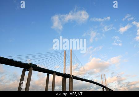 united kingdom kent the dartford crossing view of queen elizabeth 11 suspension bridge - Stock Photo