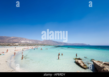 Elafonisi Beach, West Coast, Chania Province, Crete, Greece - Stock Photo