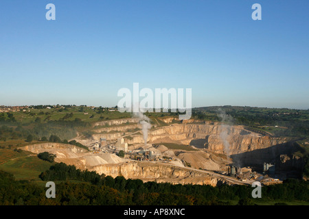 Middleton mine near Wirksworth Derbyshire Dales Peak District National Park England UK - Stock Photo