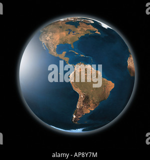 A digital illustration showing the Earth without any vegetation. Illustration digitale montrant notre planète sans - Stock Photo