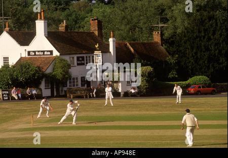 Village cricket at Tilford Surrey England HOMER SYKES - Stock Photo