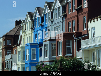 Houses At Aldeburgh in Suffolk Uk - Stock Photo