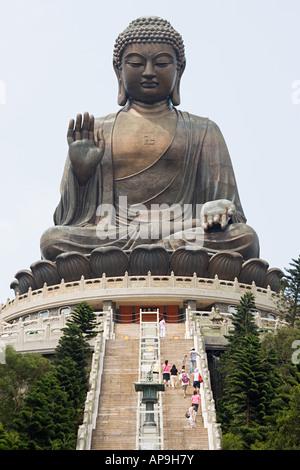 Big buddha at po lin monastery - Stock Photo