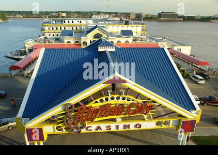 AJD49950, Davenport, IA, Iowa, Quad Cities, Mississippi River, Rhythm City Casino - Stock Photo
