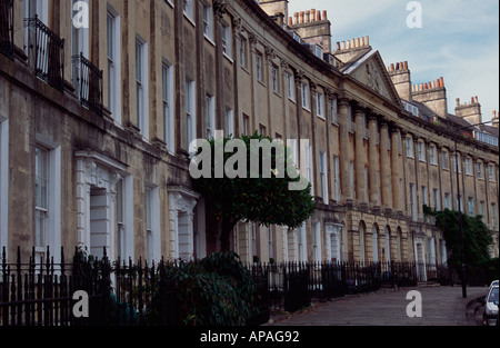 Camden Crescent, Bath Spa, Somerset, England UK - Stock Photo
