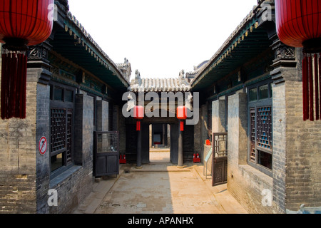 The Yard of Qiao Family-a wealthy family of that period named Qiao Shanxi - Stock Photo