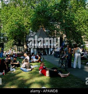 Soho Square West End London U.K. - Stock Photo