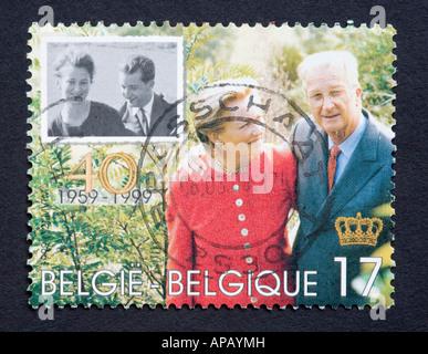 Belgian postage stamp - Stock Photo