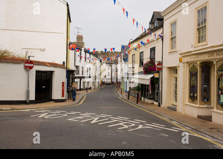 The traditional market town of Totnes in Devon ,England. - Stock Photo