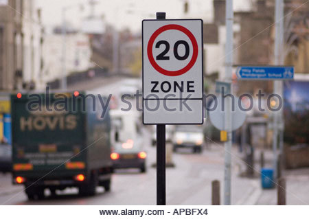 20 mph speed limit signs in Lewisham London - Stock Photo