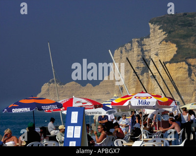 france seine maritime normandy holiday resort town of etretat - Stock Photo