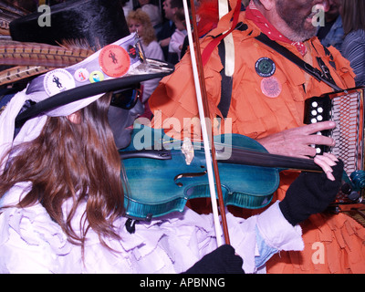 blacked face painted violinist sweeps festival rochester kent - Stock Photo