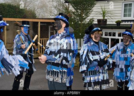 Winter Solstice Morris Dancers. - Stock Photo