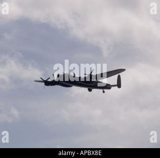 UK September Avro Lancaster from the Battle of Britain Memorial Flight - Stock Photo