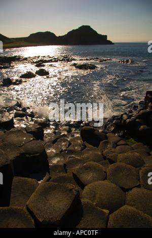 Giant's Causeway, North Antrim Coast, Northern Ireland - Stock Photo