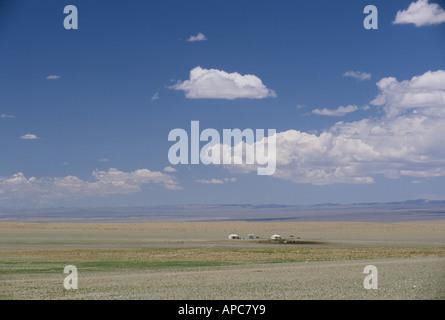 Ger Gobi desert - Stock Photo