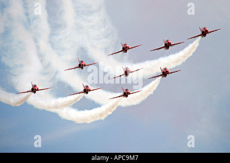 Red Arrows at Wyton. cambs - Stock Photo