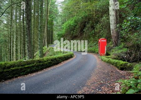 Telephone box Isle of mull - Stock Photo