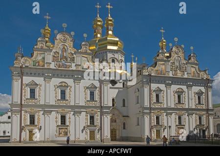 UKRAINE Kiev Kyiv Percherska Lavra Orthodox Caves Monastery orig 1051 Dormition Cathedral - Stock Photo