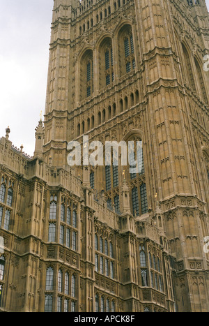 architectural detail at the houses of parliament in westminster london - Stock Photo