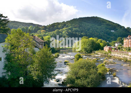 View of Berwyn Mountains Wales - Stock Photo