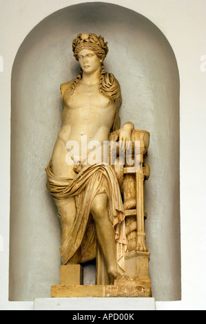 A statue of Apollo 2nd Century AD from Carthage in the Bardo Museum - Stock Photo