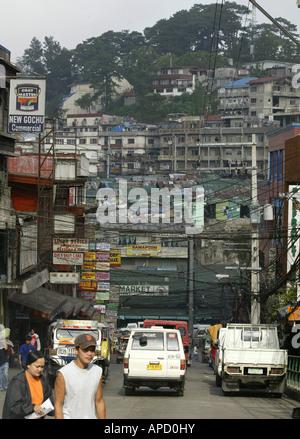 A street scene in Baguio City, Philippines. - Stock Photo