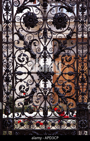 Iron Gates of Golden Hall the Croatian Institute for History in Zagreb Croatia - Stock Photo