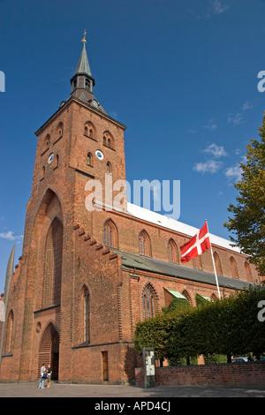 Sct Knuds Kirke Flakhaven Odense Denmark - Stock Photo