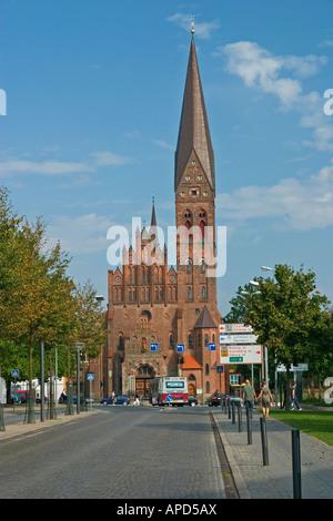 Sct Albani Church Odense Denmark - Stock Photo
