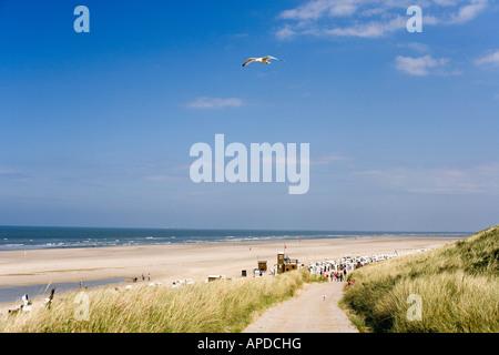 Spiekeroog Island, Eastern Frisian Islands, Germany - Stock Photo