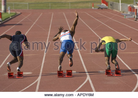 African male athlete with arms crossed - Stock Photo