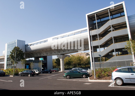 Pontoon Dock Station on the Docklands Light Railway DLR near the Thames Barrier Park in East London GB UK - Stock Photo