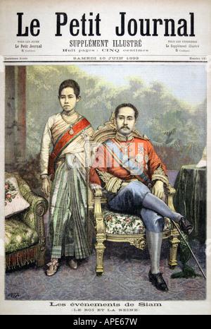 rama v chulalongkorn king of siam in his royal attire circa stock photo royalty free image. Black Bedroom Furniture Sets. Home Design Ideas
