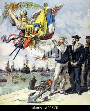 an analysis of the franco russian alliance of 1893 Very rare banner, produced in 1896 to commemorate diplomatic exchanges in kronshtadt and toulon - both significant in forming the franco-russian alliance.