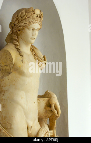 A statue of Apollo from the theatre at Carthage - Stock Photo