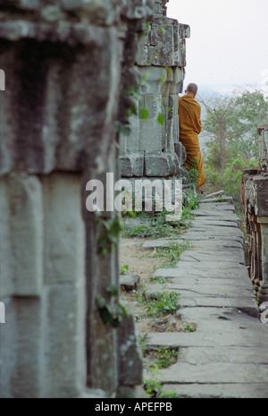 Monk At Phnom Bakheng - Stock Photo