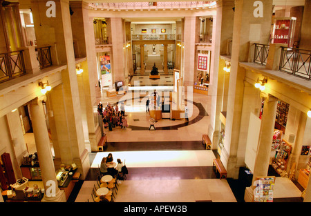 Entrance foyer area of the National Museum Cardiff South Wales UK - Stock Photo