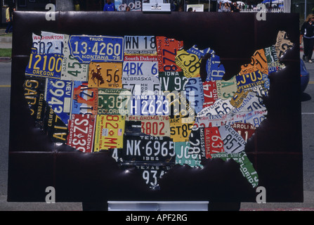 Art Map Of United States Car License Registration Plate Gallery - Us map license plates