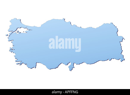 Turkey map - Stock Photo