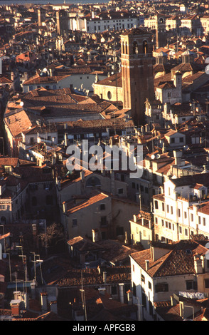 VENICE View over the city from Campanile di San Marco. 2005. - Stock Photo
