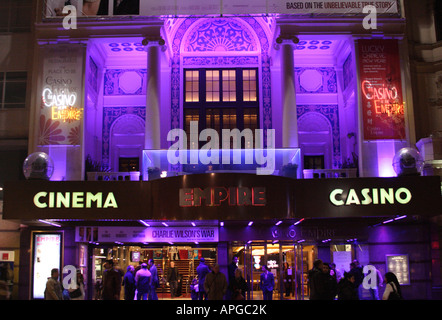 Empire Leicester Square London at night - Stock Photo