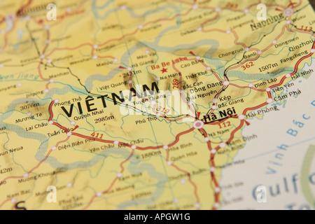 Map of Vietnam - Indochina - Stock Photo