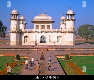 Itmad-ud-daulah's tomb, Agra, Utter Pradesh, India - Stock Photo