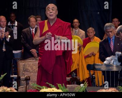 His Holiness The Dalai Lama during his visit to Emory University in Atlanta Georgia - Stock Photo
